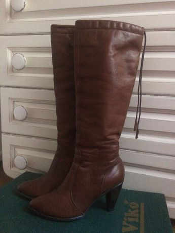 Сапоги , сапожки зимние кожаные Viko, 38 размер. Срочно, цена снижена.