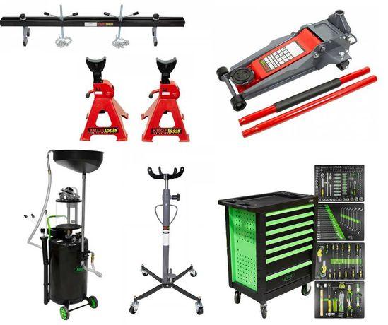 Conjunto Macaco+ Cavalete+ Barra motor+ Aspirador+ Carro ferramentas