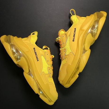 Кроссовки Balenciaga Triple S Full Yellow   кросівки Женские баленсиаг