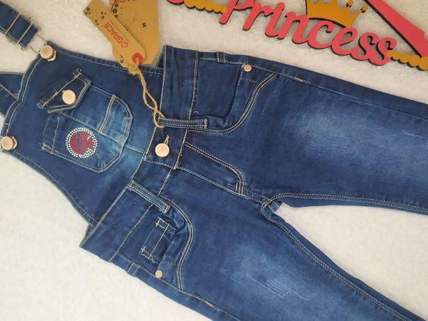 Новый джинсовый комбинезон девочке рост 116