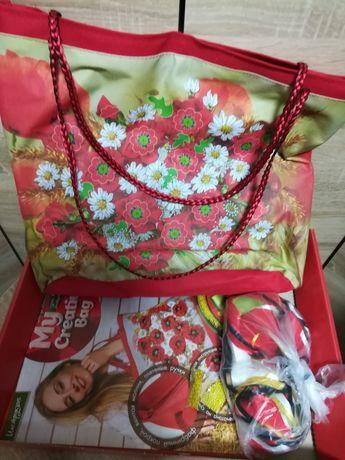 Набор для творчества - сумка для вышивки лентами.