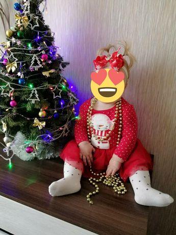 Платье новогоднее, красное, Next