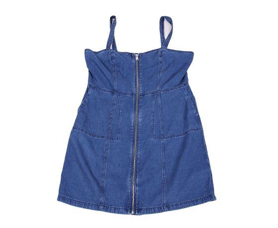 Sukienka dżinsowa gorsetowa zamek zip ołówkowa 44 46