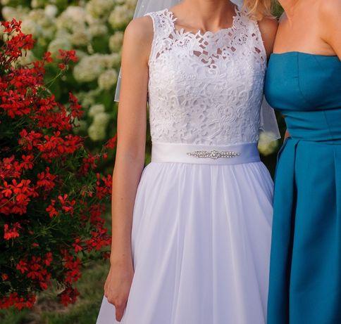 suknia ślubna koronka 36
