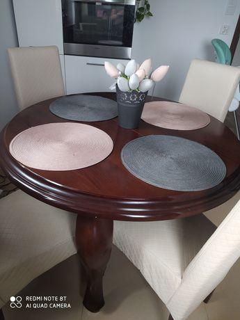 Stół + 4 krzesła ludwik