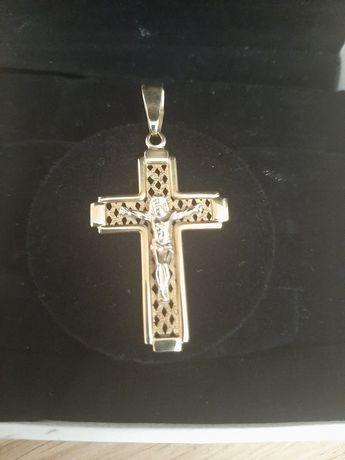 Złoty krzyż krzyżyk złoto 585 3,82g Okazja 130zł/gram