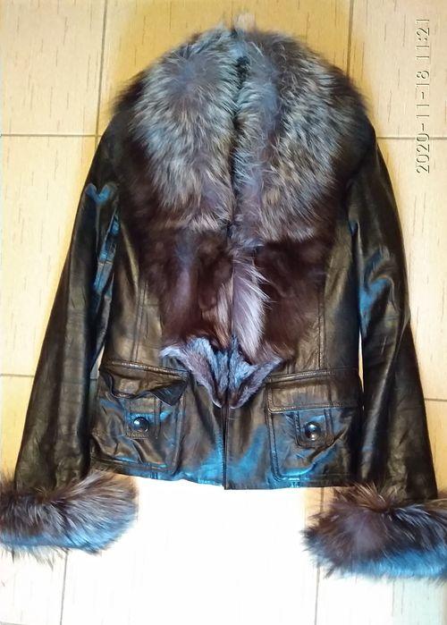 Куртка кожаная с чернобуркой зимняя Черновцы - изображение 1