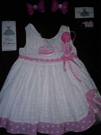 Нарядное платье на День Рождения.На 1 -2 года.