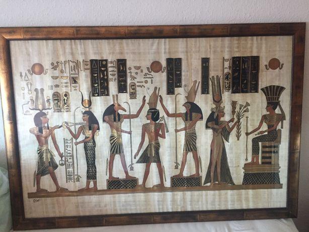 Obraz na papirusie, oryginał z Egiptu