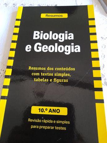 Resumos de Biologia e Geologia 10o. Ano.- Revisão  rápida