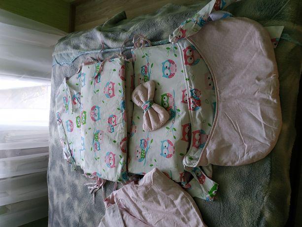 Защита на кроватку 8в1полный комплект Asik