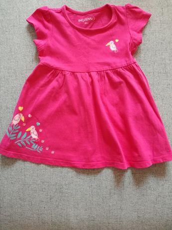 Sukienka na lato dla dziewczynki rozm. 80