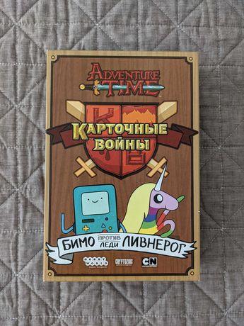 Настольная игра Время приключений. Карточные войны: Бимо&Леди Ливнерог