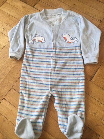 Welurowy pajac piżamka r 86 pajacyk