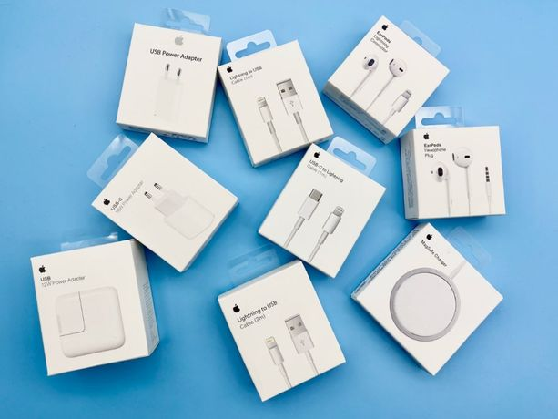 Кабель Apple USB Lightning | Адаптер, блок 18w/20w | Наушники, Зарядка