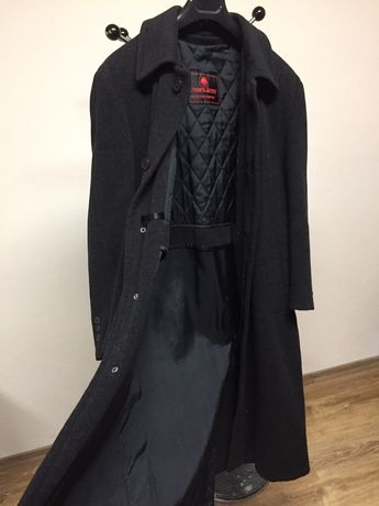 Męski długi płaszcz
