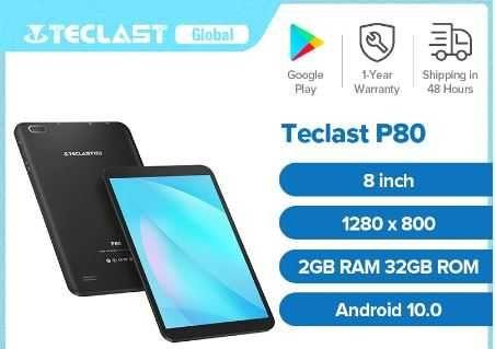 Новый планшет Teclast P80 2/32ГБ 8 дюймов + чехол-книжка