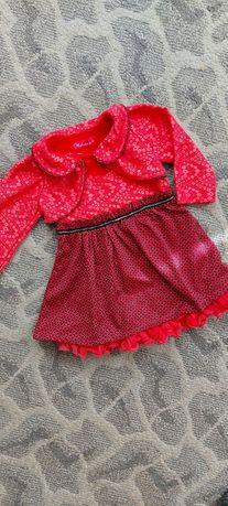 Платье для маленькой принцессы р.86