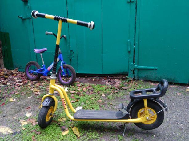 Срочно! Самокат детский немецкий с педалью, колеса большие