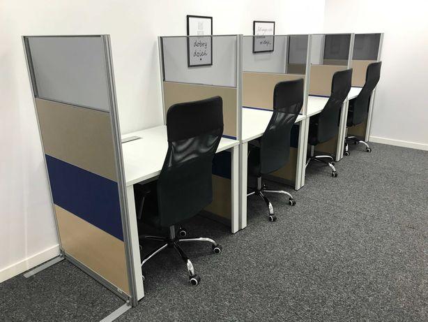 Wyposażenie Call Center - meble, laptopy, krzesła obrotowe - okazja