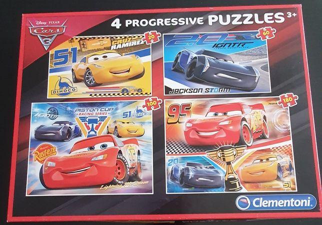 4 Puzzles progressivos Cars