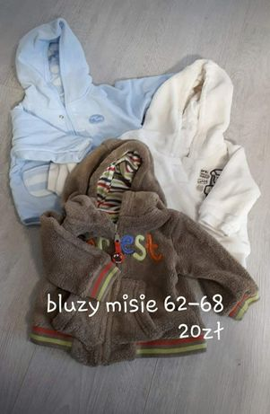 Bluzy misie 62-68