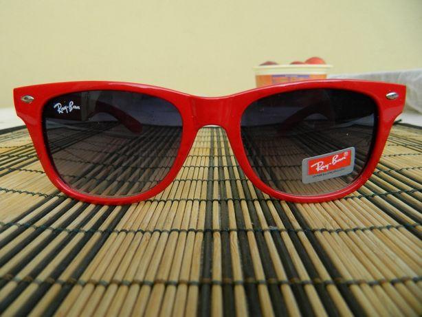 Okulary przeciwsłoneczne nowe czerwone nerdy aviatory Raay Baan