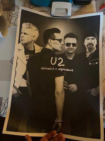 Conjunto 5 posters Originais dos U2
