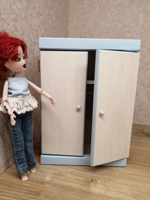 Szafa dwudrzwiowa drewna dla lalek typu barbie. Mebelki do domku dla l Kwidzyn - image 1