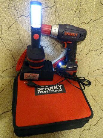 Wkrętarka SPARKY BR 12E, akcesoria-2 akumulatory,lampka,ładowarka,etui