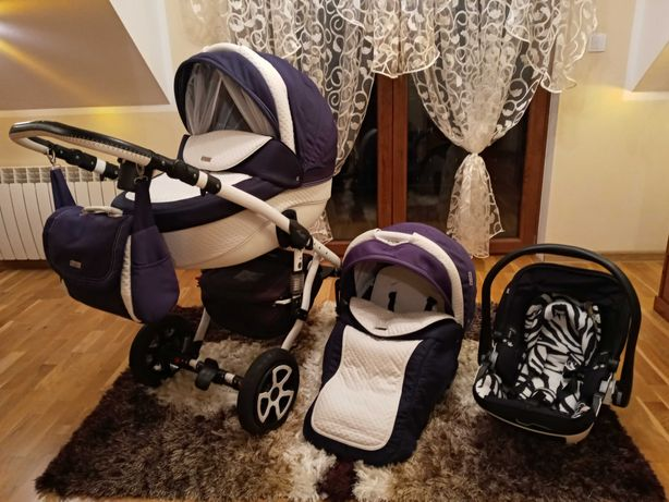 Wózek Adamex Barletta 2w1 + fotelik Kiddy