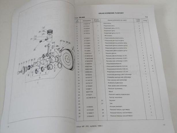 Katalog części MF 255 URSUS