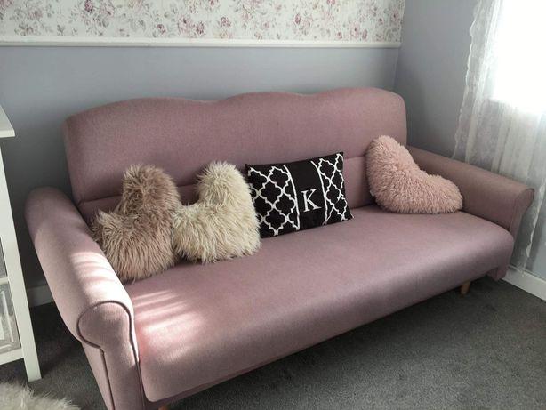 Kanapa wersalka sofa młodzieżowa różowa