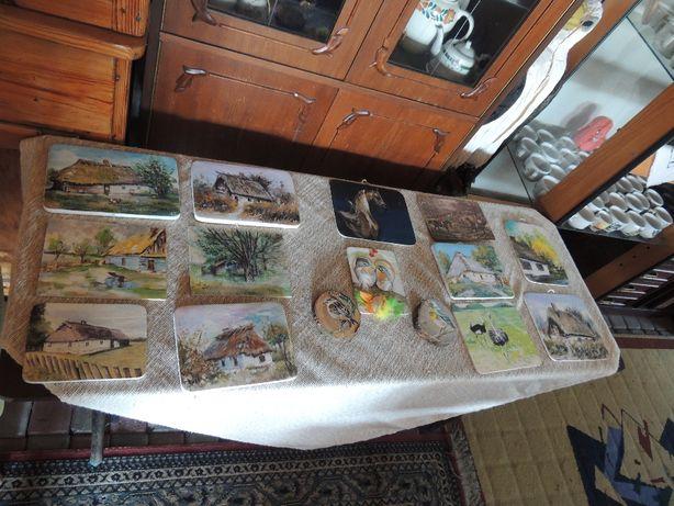 Piękne małe obrazki malowane na desce 19 zł szt + gratis
