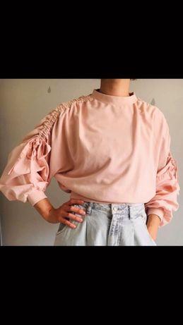 Bluza zara L pudrowy roz