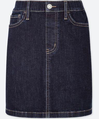 джинсова спідниця Uniqlo джинсовая юбка от 140 см