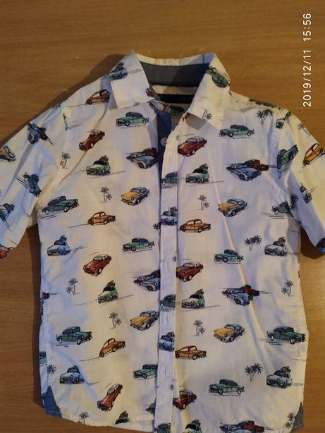 Супер крутая рубашка мальчику 3-4 года Next машинки машины