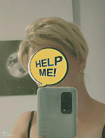 Peruka blond , piękne cięcie.
