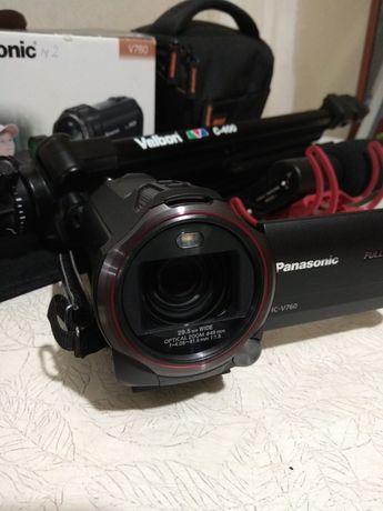 Видеокамера Panasonic hc v 760 + усил.аккумулятор.