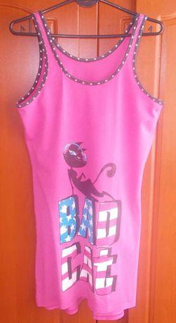 Koszulka nocna na ramiączkach bawełniana Bad Cat 36