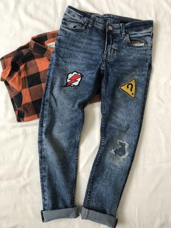 Spodnie jeansy H&M Skinny fit 128