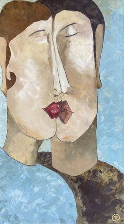 Интерьерная картина, абстракция «Люби меня нежно»
