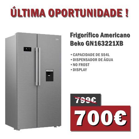 Frigorífico Americano Beko GN163221XB