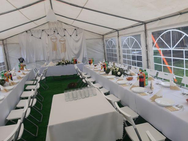 Namiot imprezowy wynajmę wypożyczę krzesła stoły zastawa