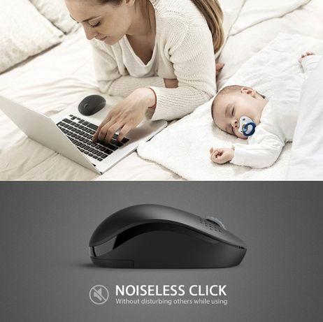 Беспроводная мышь ЮСБ бесшумная компьютерная USB мышка, пк ноутбук