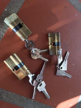 Fechaduras e canhões com 3 chaves