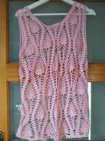 Tunika ręcznie dziergana-handmade