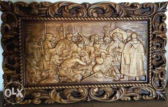 Деревянные картины, Картина Козаки