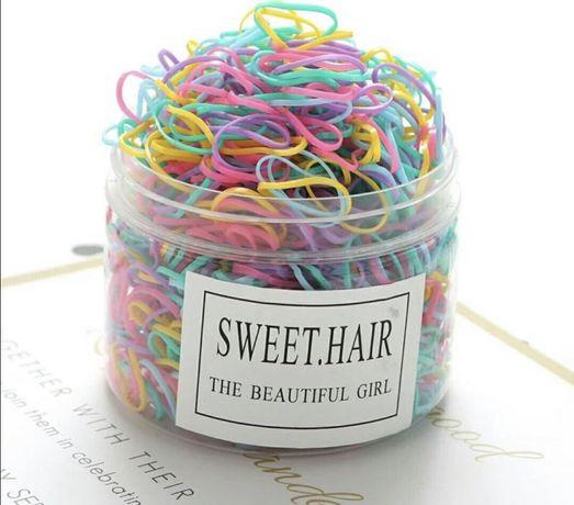 Детские силиконовые резинки для волос