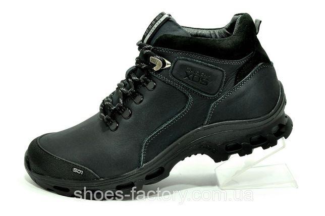 Зимние мужские ботинки из кожи Shark Primaloft Чёрные, купить
